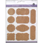 Multi Craft - Cork Stickers - Element - Tag Style