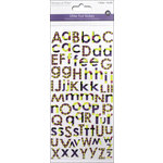 Multi Craft - Cardstock Stickers - Alphabet - Glitter Retro