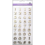 Multi Craft - 3D Embossed Stickers - Font - Numbers - Gold