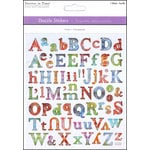 Multi Craft - Cardstock Stickers - Dazzle - Alphabet - Clear Elegant