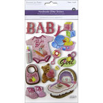 Multi Craft - 3D Chipboard Stickers - Baby Girl