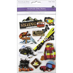 Multi Craft - 3D Chipboard Stickers - Ski Trip