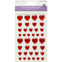 Multi Craft - 3D Gem Stickers - Red Hearts