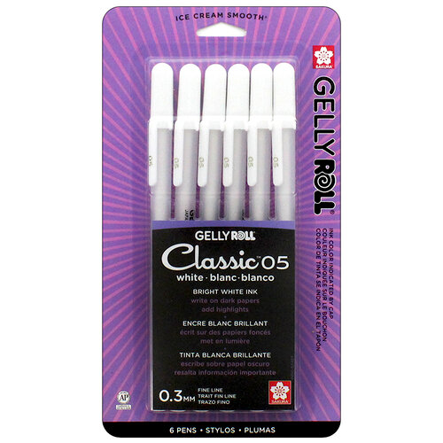 Sakura - Gelly Roll Pen - Classic - 05 Fine - White - 6 Pack