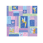 SandyLion - Disney Collection - 12 x 12 Paper - Tinkerbell Phrase