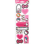 SandyLion - Hello Kitty Collection - Cardstock Stickers with Glitter Accents - Tall - Tags