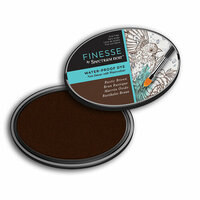 Crafter's Companion - Spectrum Noir - Finesse Water Proof Ink Pad - Rustic Brown