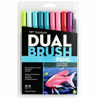 Tombow - Dual Brush Pen - 10 Color Set - Tropical