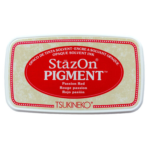 Tsukineko - StazOn - Pigment Ink Pad - Passion Red