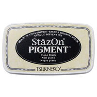 Tsukineko - StazOn - Pigment Ink Pad - Piano Black