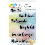 Ken Oliver - Clear Acrylic Stamps - Everyday Sentiments