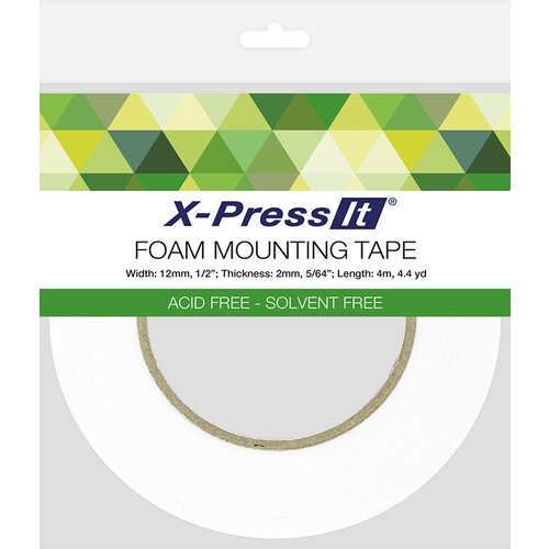 X-Press It - Double Sided Foam Mounting Tape Roll - .5 Inch x 4.4 yards