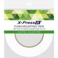 X-Press It - Double Sided Foam Mounting Tape Roll - .5 Inch x 4.4 yards