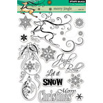 Penny Black - Christmas - Clear Acrylic Stamps - Merry Jingle