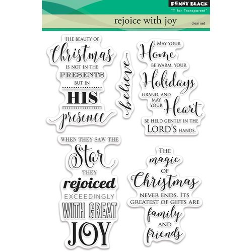 Penny Black - Christmas - Clear Photopolymer Stamps - Rejoice with Joy