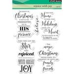 Penny Black - Christmas - Clear Acrylic Stamps - Rejoice with Joy