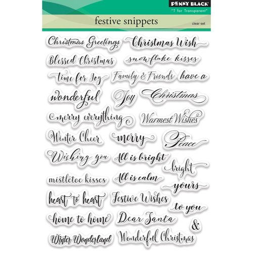 Penny Black - Christmas - Clear Acrylic Stamps - Festive Snippets