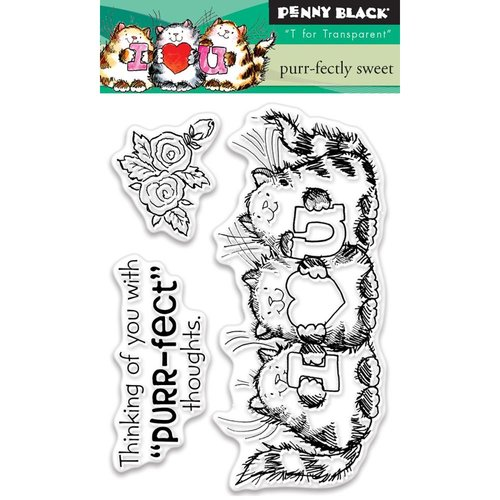 Penny Black - Clear Photopolymer Stamps - Purr-fectly Sweet