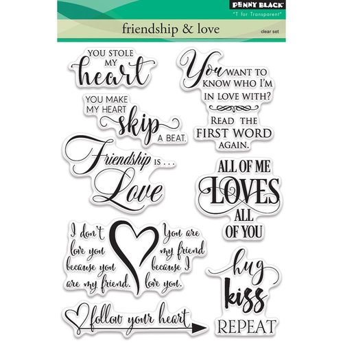Penny Black - Clear Photopolymer Stamps - Friendship and Love