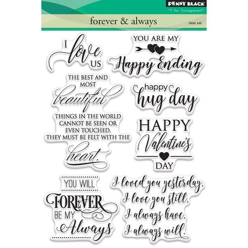 Penny Black - Clear Photopolymer Stamps - Forever and Always