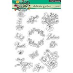 Penny Black - Clear Acrylic Stamps - Delicate Garden