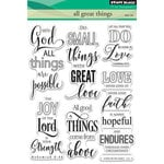 Penny Black - Clear Photopolymer Stamps - All Great Things