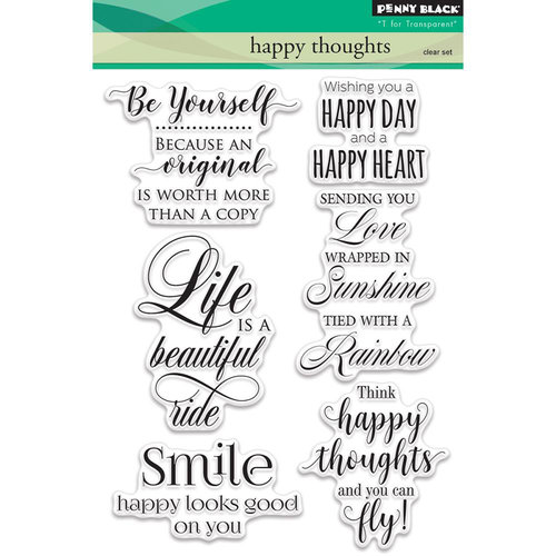 Penny Black - Clear Photopolymer Stamps - Happy Thoughts