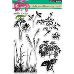 Penny Black - Clear Acrylic Stamps - Delicate Silhouettes