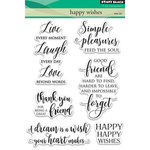 Penny Black - Clear Acrylic Stamps - Happy Wishes