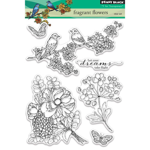 Penny Black - Clear Photopolymer Stamps - Fragrant Flowers