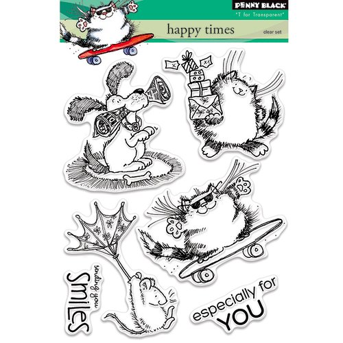 Penny Black - Clear Photopolymer Stamps - Happy Times