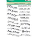 Penny Black - Clear Acrylic Stamps - Banner Sentiments