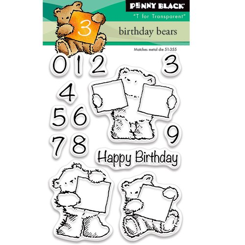 Penny Black - Clear Photopolymer Stamps - Birthday Bears