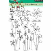 Penny Black - Clear Photopolymer Stamps - Delicate Flowers