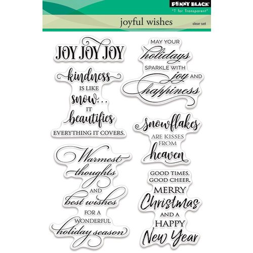Penny Black - Christmas - Clear Acrylic Stamps - Joyful Wishes