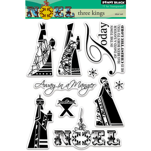 Penny Black - Christmas - Clear Photopolymer Stamps - Three Kings