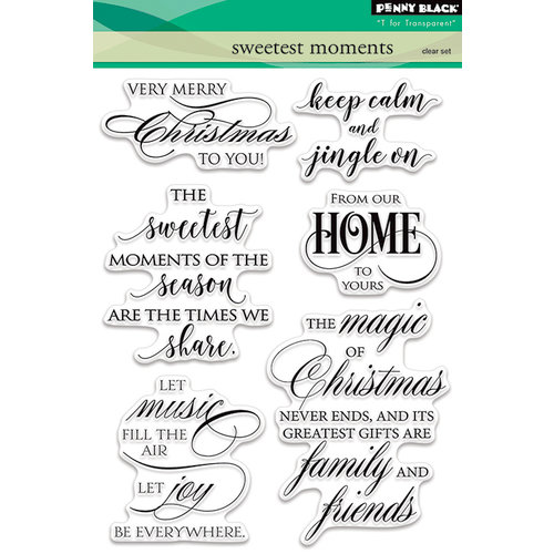 Penny Black - Christmas - Clear Photopolymer Stamps - Sweetest Moments