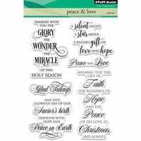 Penny Black - Christmas - Clear Photopolymer Stamps - Peace and Love