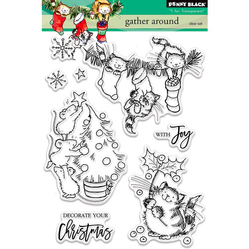 Penny Black - Christmas - Clear Photopolymer Stamps - Gather Around