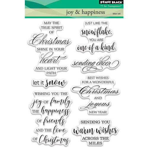 Penny Black - Christmas - Clear Acrylic Stamps - Joy and Happiness