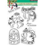 Penny Black - Christmas - Clear Acrylic Stamps - Under the Mistletoe