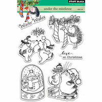Penny Black - Christmas - Clear Photopolymer Stamps - Under the Mistletoe
