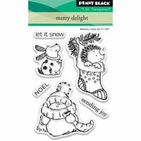 Penny Black - Christmas - Clear Photopolymer Stamps - Merry Delight