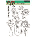 Penny Black - Peaceful Winter Collection - Christmas - Clear Acrylic Stamps - Berries Delight