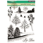 Penny Black - Peaceful Winter Collection - Christmas - Clear Photopolymer Stamps - Peaceful Winter