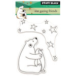 Penny Black - Peaceful Winter Collection - Christmas - Clear Acrylic Stamps - Star Gazing Friends