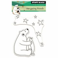 Penny Black - Peaceful Winter Collection - Christmas - Clear Photopolymer Stamps - Star Gazing Friends
