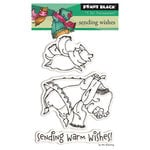 Penny Black - Peaceful Winter Collection - Christmas - Clear Acrylic Stamps - Sending Wishes