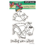 Penny Black - Peaceful Winter Collection - Christmas - Clear Photopolymer Stamps - Sending Wishes