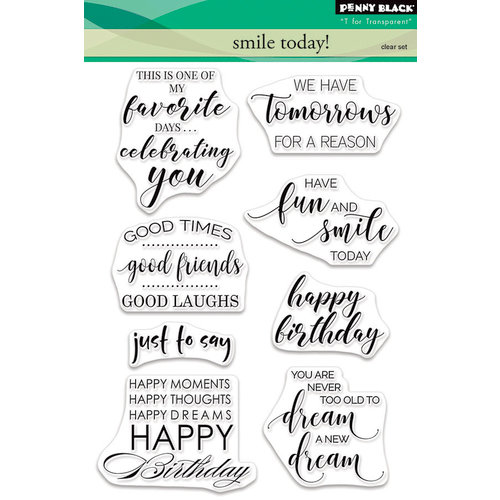 Penny Black - Clear Photopolymer Stamps - Smile Today